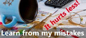 My mistakes