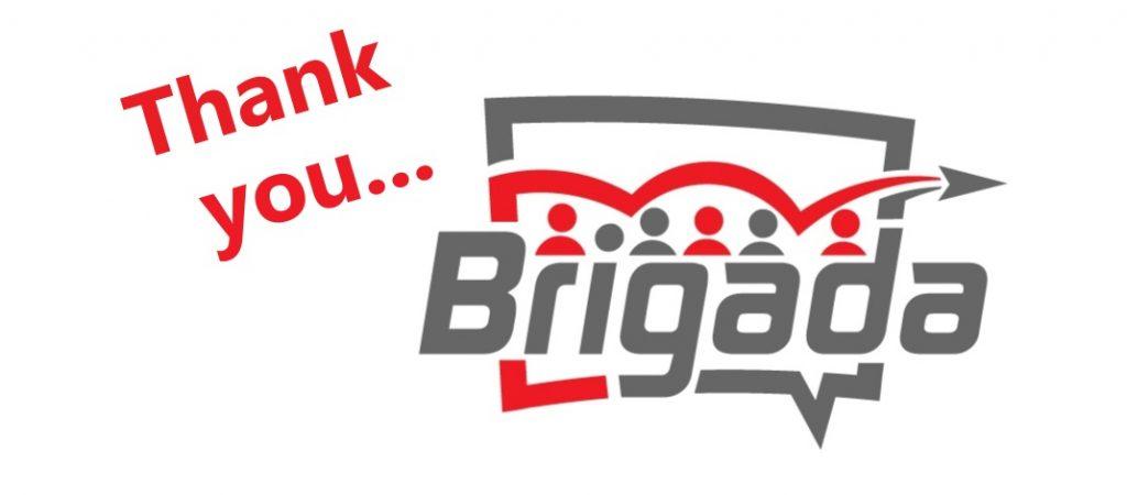 Thanks to Brigada!